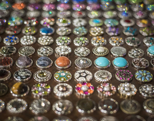 Photograph - Buttons In A Row by Andy Crawford