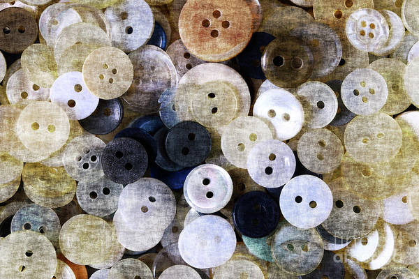 Wall Art - Photograph - Buttons In Grunge Style by Michal Boubin