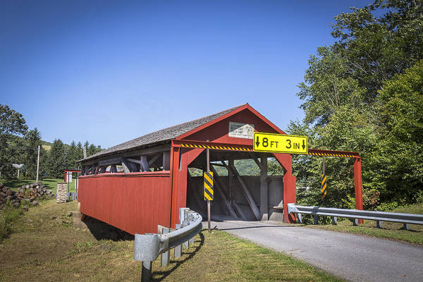 Photograph - Buttonwood/blockhouse Covered Bridge by Jack R Perry
