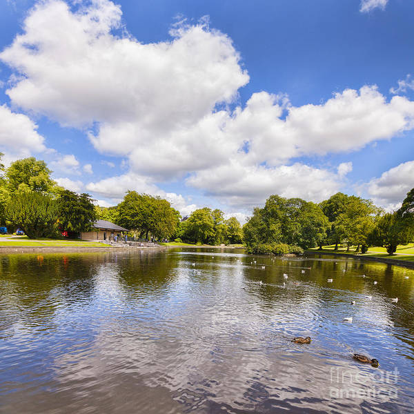 English Garden Photograph - Buxton Pavilion Gardens by Colin and Linda McKie