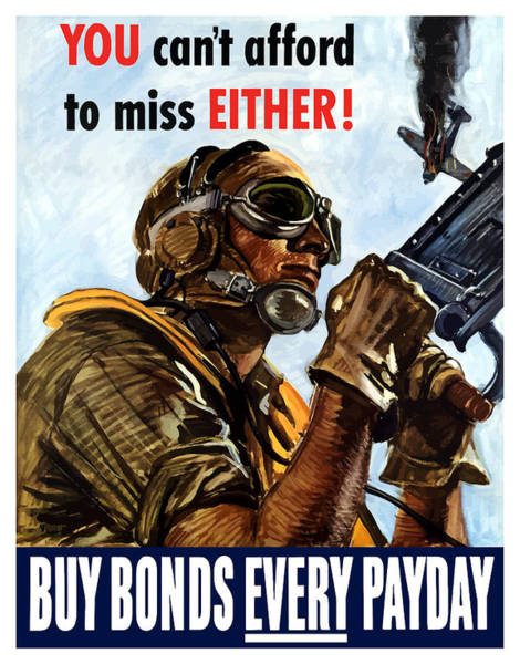 Air War Painting - Buy Bonds Every Payday by War Is Hell Store