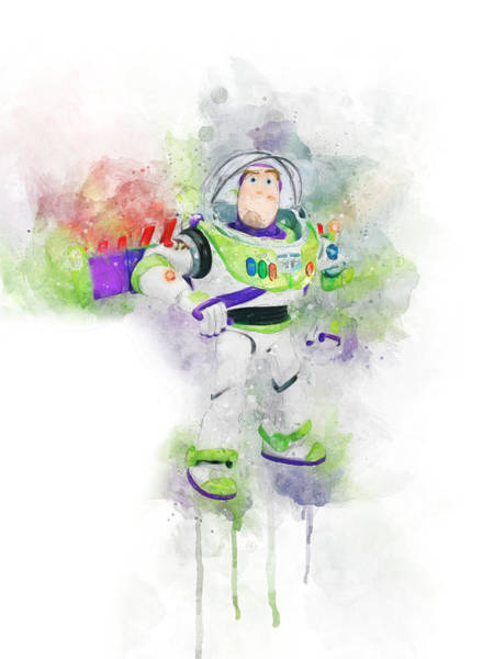 Wall Art - Digital Art - Buzz Lightyear by Aged Pixel