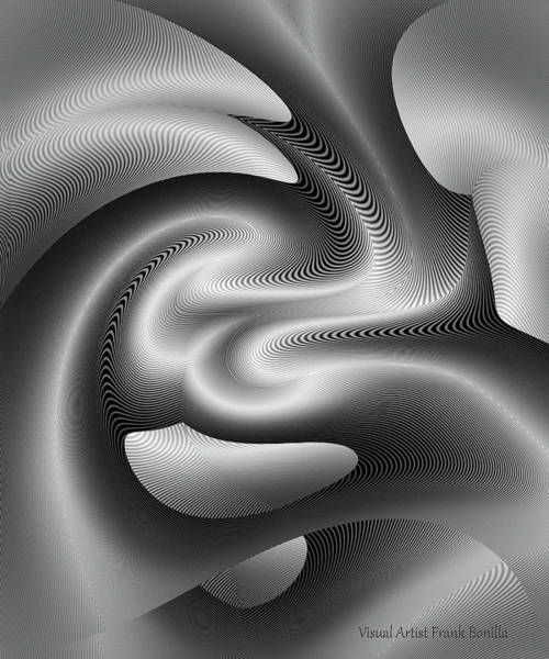 Digital Art - Bw 6 by Visual Artist Frank Bonilla