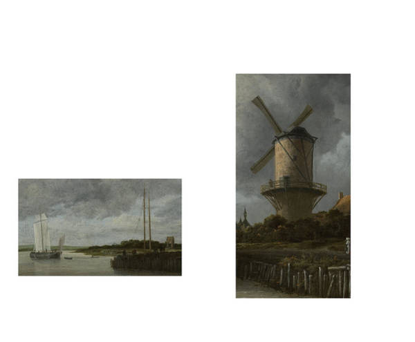 Digital Art - Bw 8 Van Ruisdael by David Bridburg