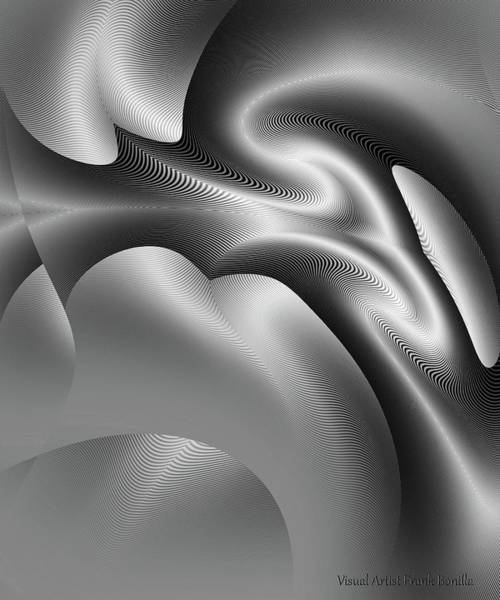 Digital Art - Bw Art 1 by Visual Artist Frank Bonilla