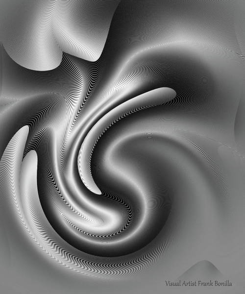 Digital Art - Bw Art 2 by Visual Artist Frank Bonilla