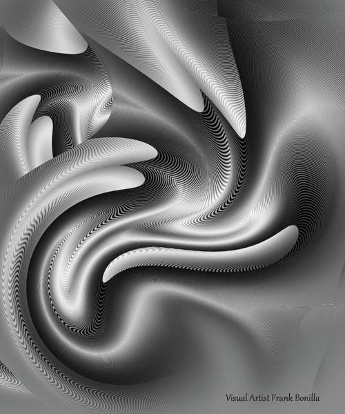 Digital Art - Bw Art 7 by Visual Artist Frank Bonilla
