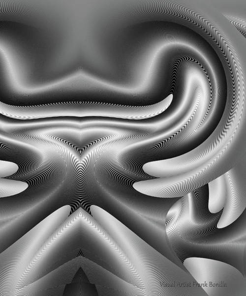 Digital Art - Bw Art 8 by Visual Artist Frank Bonilla