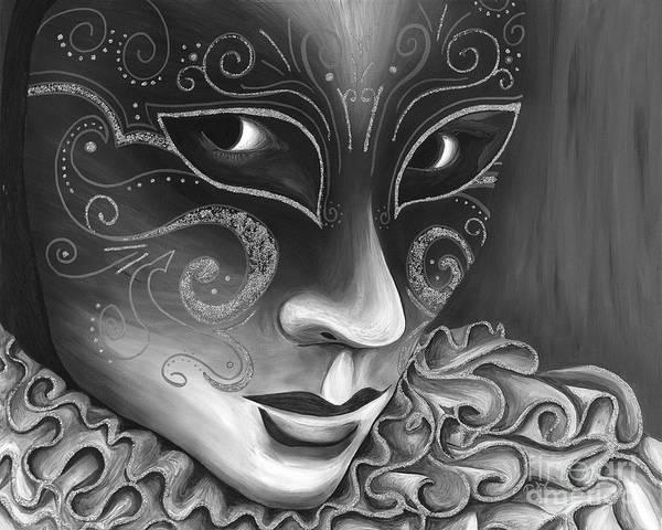 Painting - Bw- Carnival Mask by Patty Vicknair