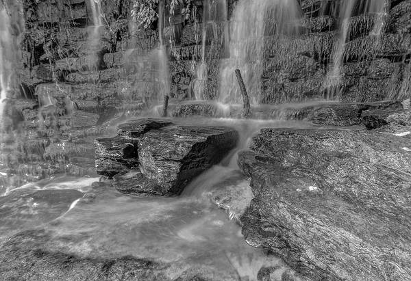 Photograph - Bw Rock Wall Waterfall by Keith Smith