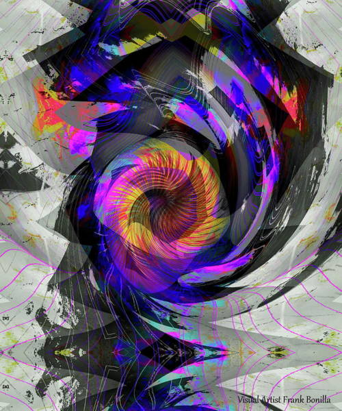 Digital Art - Bw Rose by Visual Artist Frank Bonilla