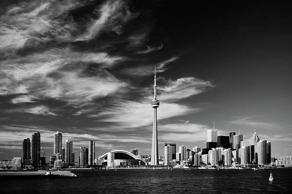 Wall Art - Photograph - Bw Toronto Skyline 1.5 Ratio Xl by Andriy Zolotoiy