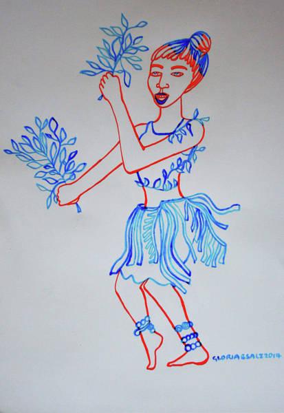 Painting - Bwamba Traditional Dance Uganda by Gloria Ssali