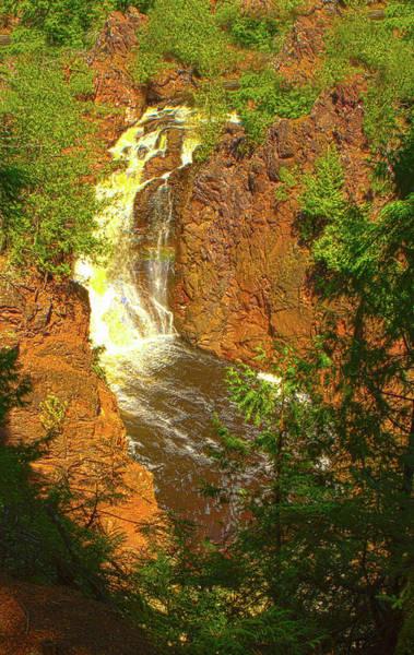 Photograph - Brownstone Falls, Morse, Wi by Jeff Kurtz