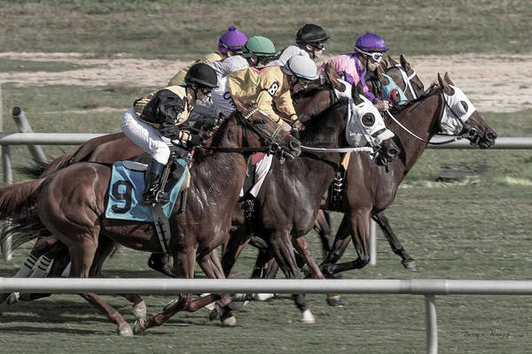 Racetrack Photograph - By A Head by Betsy Knapp