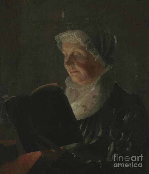 Reader Wall Art - Painting - By Candlelight by Samuel Finley Breese Morse