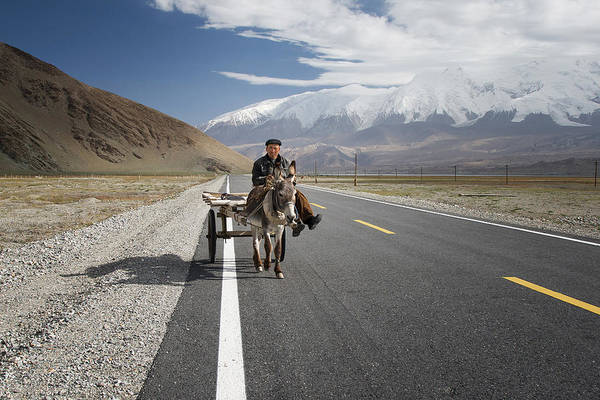 Highway Photograph - By Donkey On The Karakorum Highway by Reggy