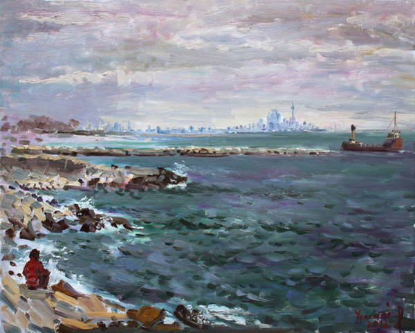 Toronto Painting - By Lakeshore Mississauga by Ylli Haruni