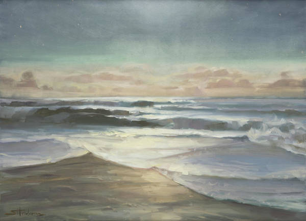 Oregon Coast Wall Art - Painting - By Moonlight by Steve Henderson