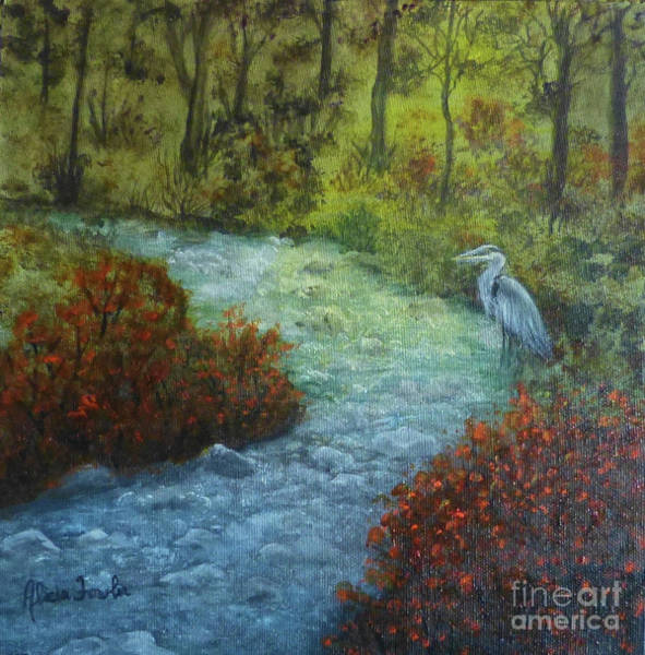 Painting - By The Brook by Alicia Fowler