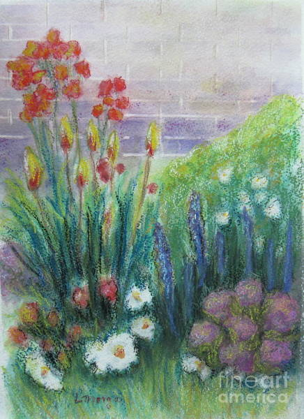 Painting - By The Garden Wall by Laurie Morgan