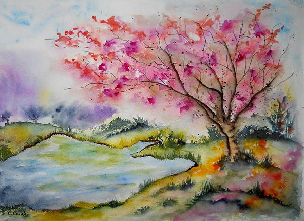 Painting - By The Lake by Carol Crisafi