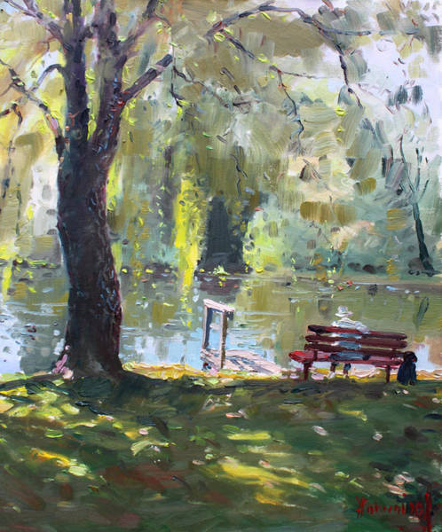Son Painting - By The Lake  by Ylli Haruni
