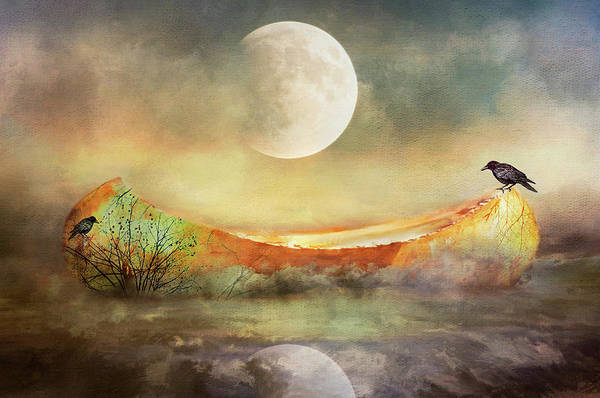 Painting - By The Light Of The Crow Moon by Christina VanGinkel