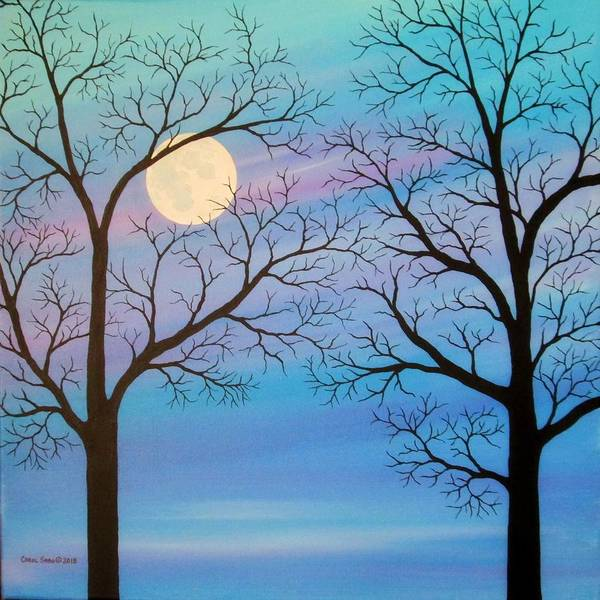 Wall Art - Painting - By The Light Of The Moon by Carol Sabo