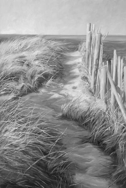 Wall Art - Painting - By The Sea - Black And White by Lucie Bilodeau