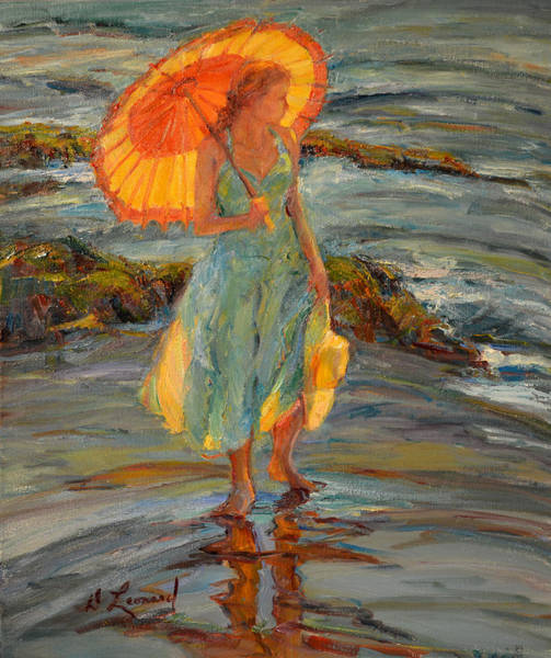 Wall Art - Painting - By The Sea by Diane Leonard