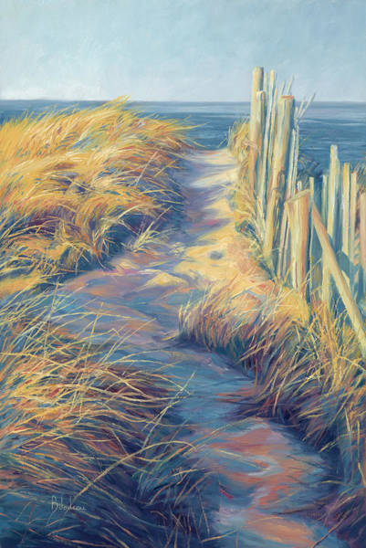 Wall Art - Painting - By The Sea by Lucie Bilodeau