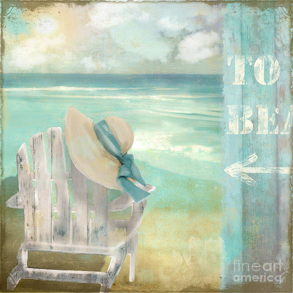 Sunbathing Painting - By The Sea by Mindy Sommers