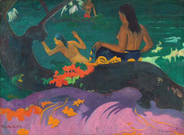 Wall Art - Painting - By The Sea by Paul Gauguin