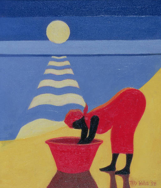 African Women Painting - By The Sea Shore by Tilly Willis