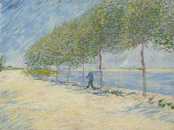 Painting - By The Seine Paris May  July 1887 Vincent Van Gogh 1853  1890 by Artistic Panda