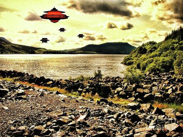 Scifi Digital Art - By The Shore By Raphael Terra by Raphael Terra