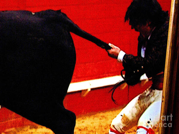 Matador Photograph - By The Tail by Mexicolors Art Photography