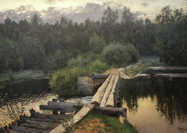 By The Whirlpool Art Print by Isaac Levitan