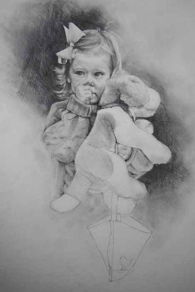 Drawing - Bye-bye Bag by Jani Freimann