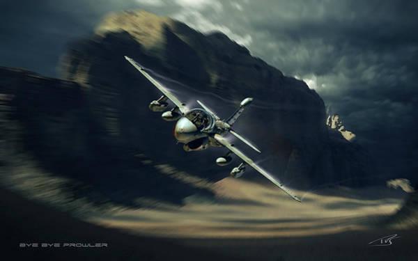 Cockpit Digital Art - Bye Bye Prowler by Peter Van Stigt