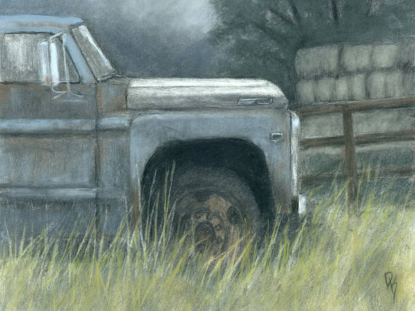 Rust Drawing - Bygones by David King