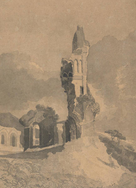 Drawing - Byland Abbey, Yorkshire by John Sell Cotman