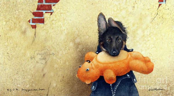 Wall Art - Painting - B.y.o.b. - Bring Your Own Bear... by Will Bullas