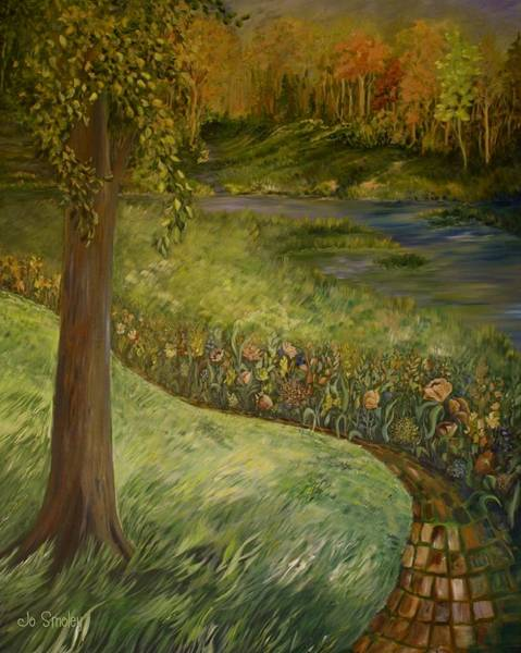 Painting - Byron And Jenny's Backyard by Joanne Smoley