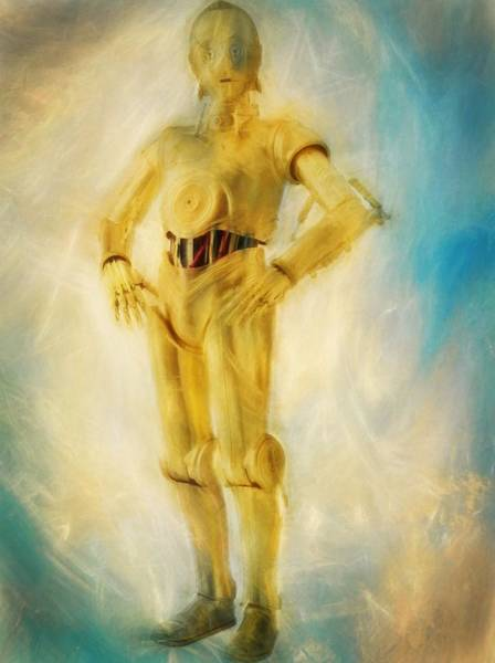 Star Wars Wall Art - Painting - C-3po by Dan Sproul
