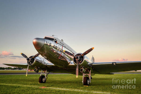 D.c Photograph - C-47 At Dusk by Paul Quinn