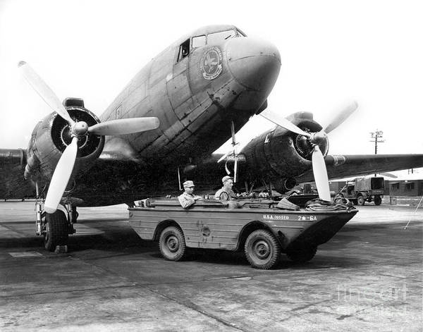 Photograph - C-47, Skytrain Which Was Nicknamed The Gooney Bird C 1943 by California Views Archives Mr Pat Hathaway Archives