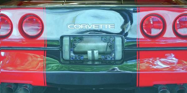 Clear Coat Wall Art - Photograph - C-6 A Corvette''s Rear by Rosemarie E Seppala