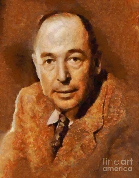 Wall Art - Painting - C. S. Lewis, Literary Legend by Sarah Kirk